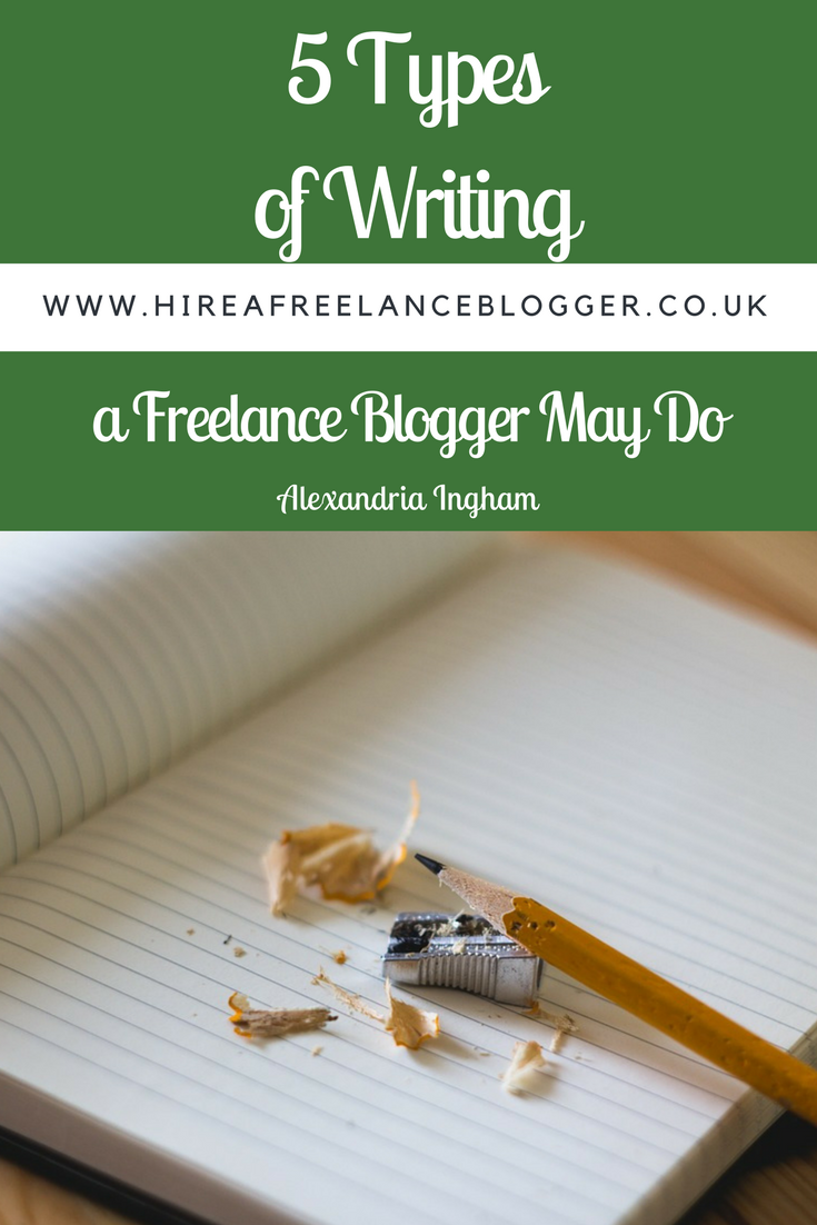 Types of Writing Freelance Bloggers Can Do