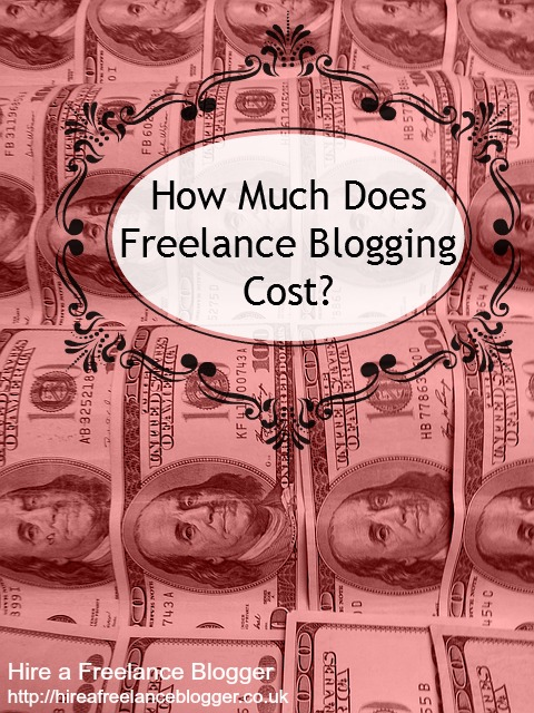 freelance blogging cost