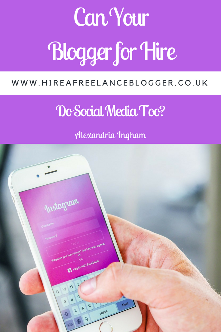 Can a blogger for hire help with social media?