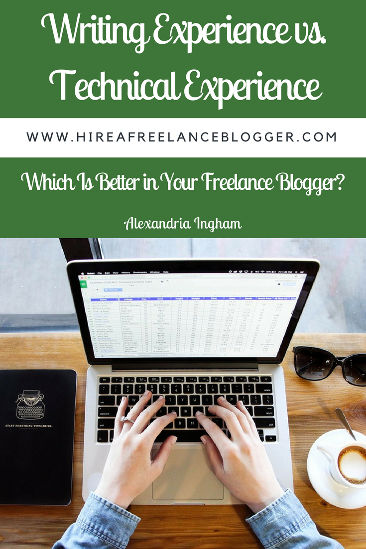 What type of experience does your freelance blogger need?