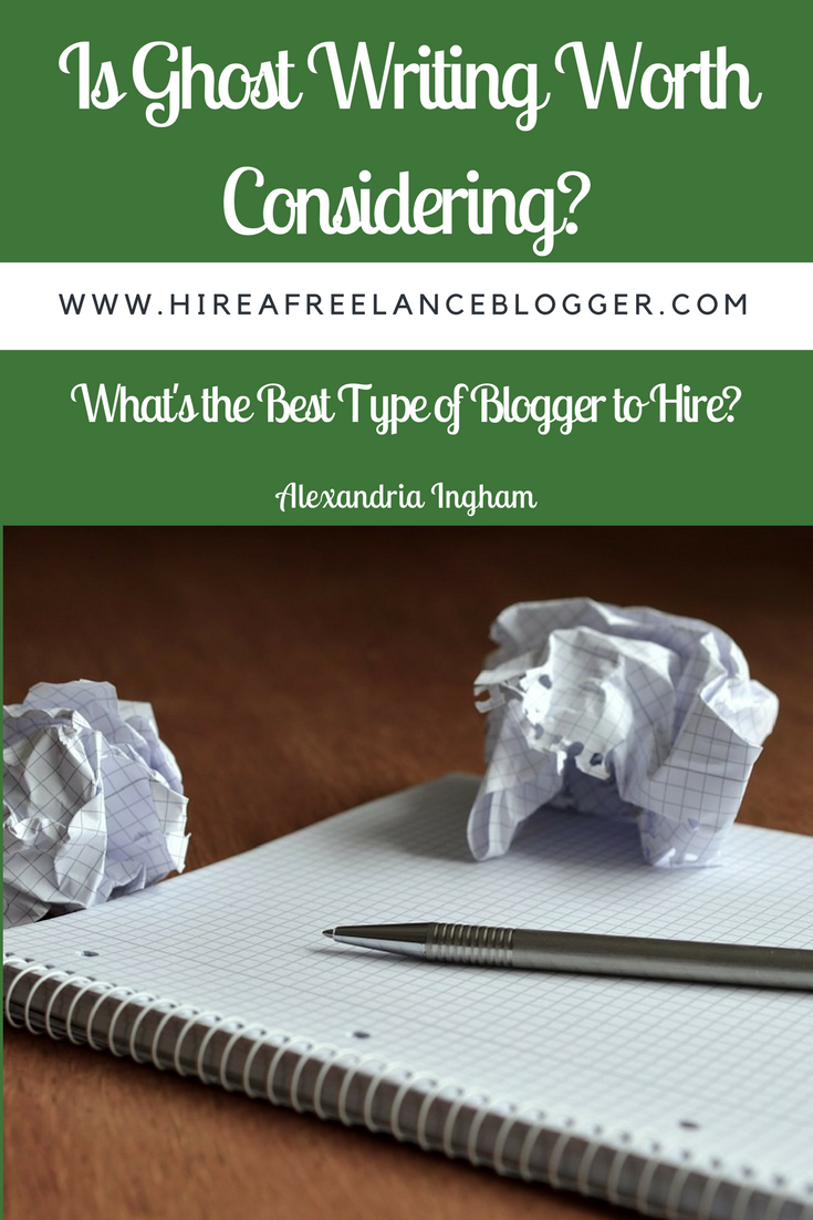 Ghost writing and hiring bloggers