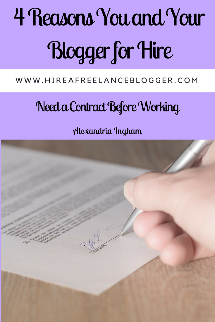 Why you and your blogger need a contract