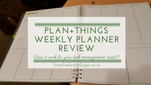 Plan+Things Weekly Planner Review