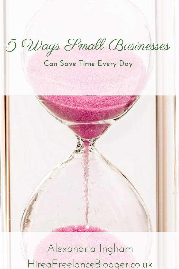 ways small businesses can save time