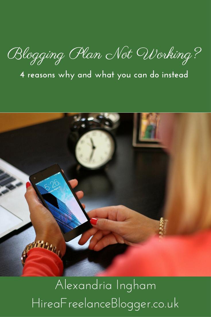 blogging plan not working