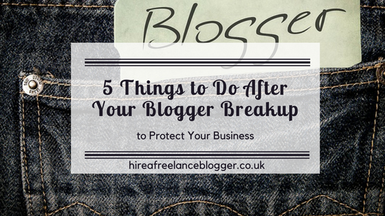 5 Things to Do After a Blogger Breakup