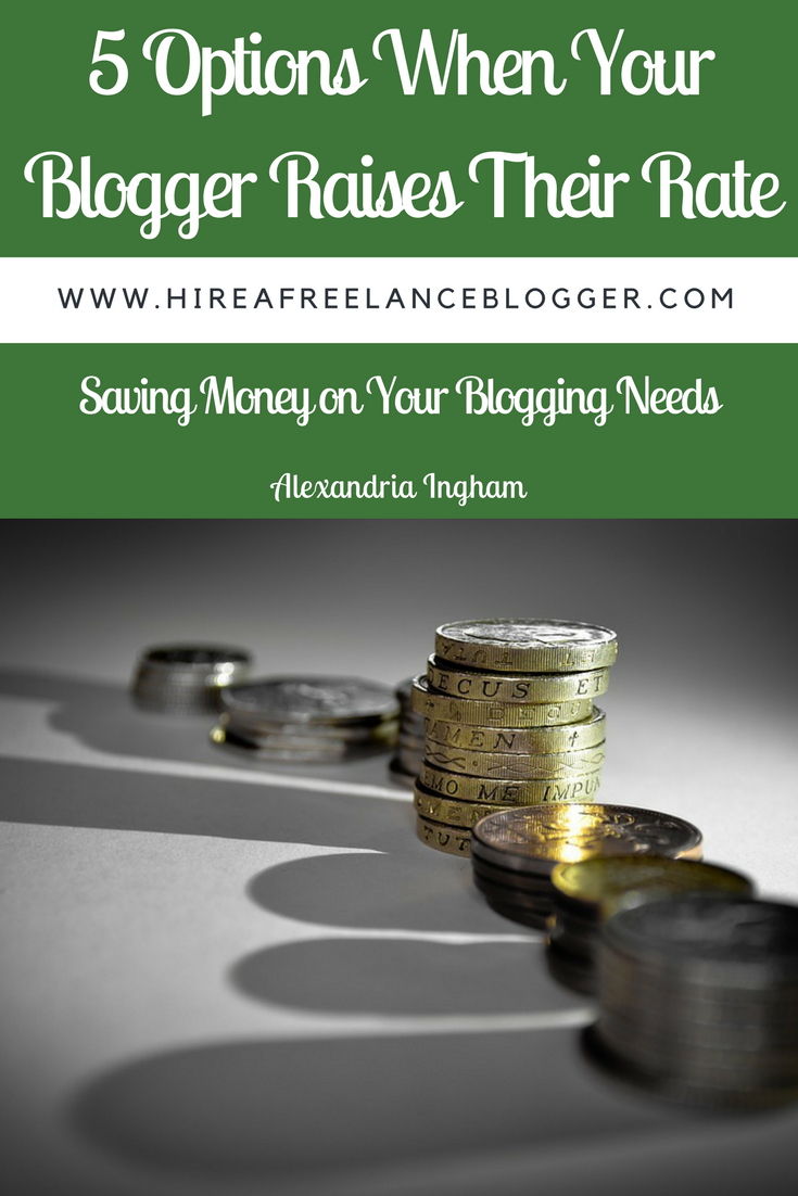 What to do when a blogger raises their rate