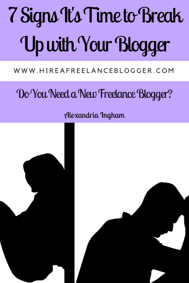 Time to break up with your blogger signs