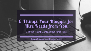 blogger for hire needs