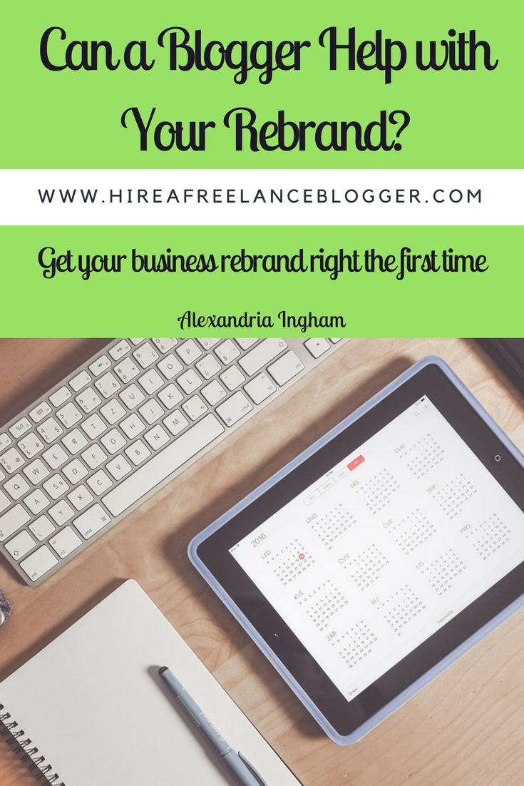 blogger for your business rebrand