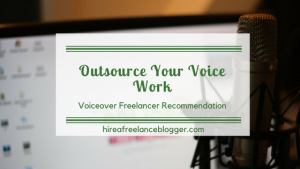 Outsource your voice work