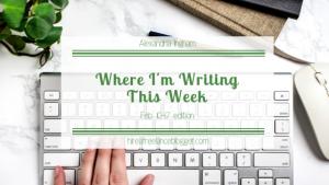 WHere I'm writing